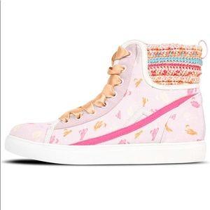 NWOT Poppy pink high tops